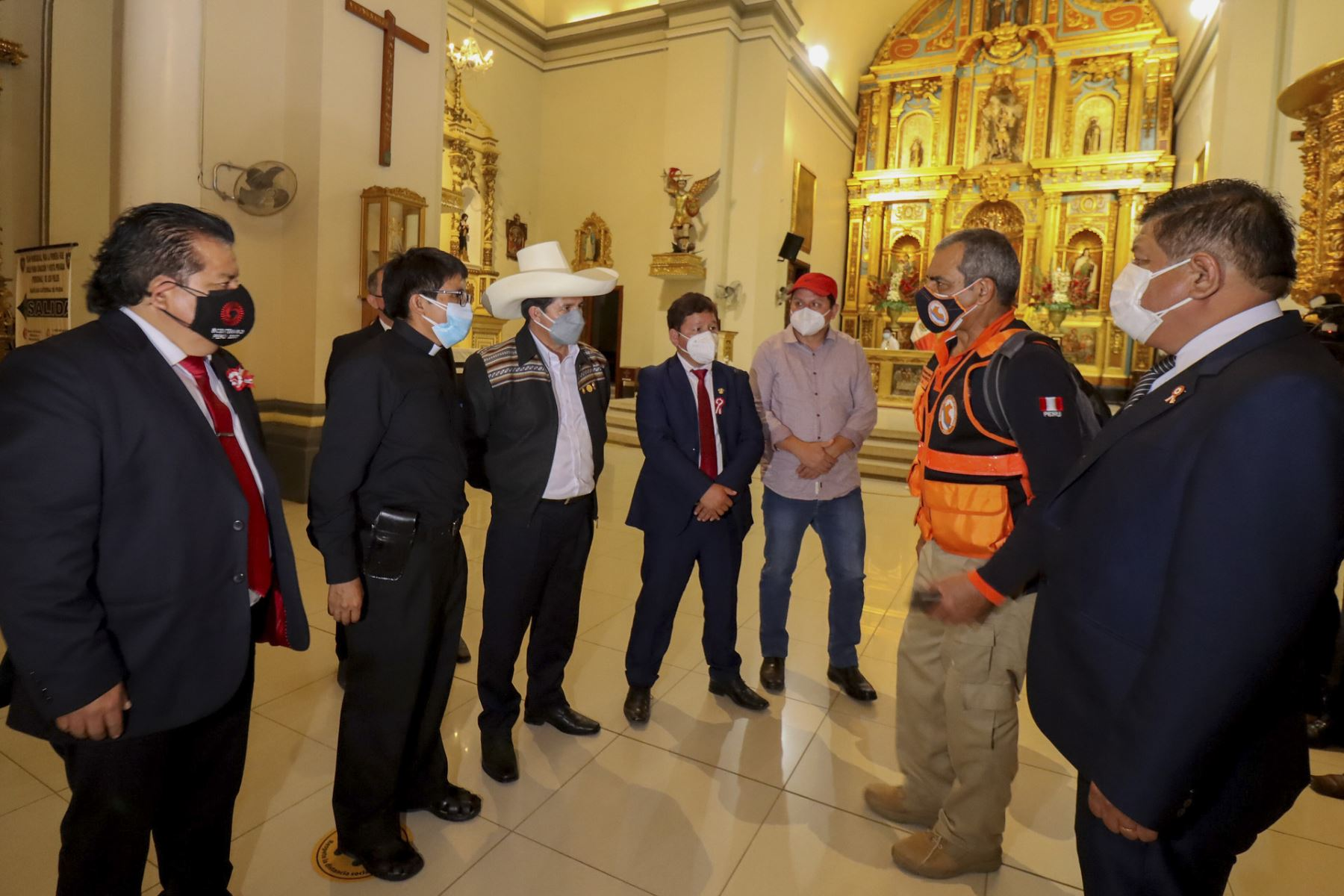 Presidente Pedro Castillo supervisa situación en Piura tras sismo de 6,1 grados. Foto: Presidencia
