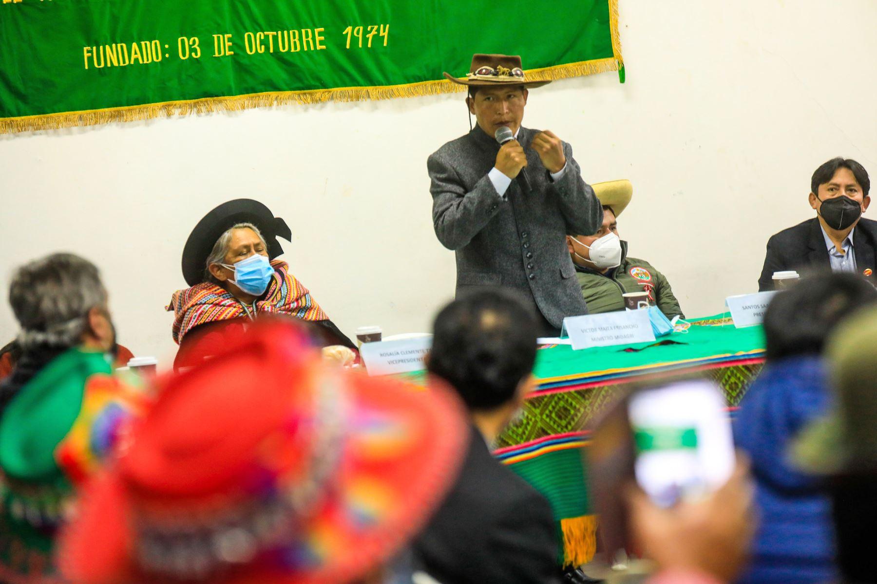 El Ministro de Desarrollo Agrario y Riego, Víctor Maita,  se reúne con la Confederación Agraria. Foto: ANDINA/ MIDAGRI