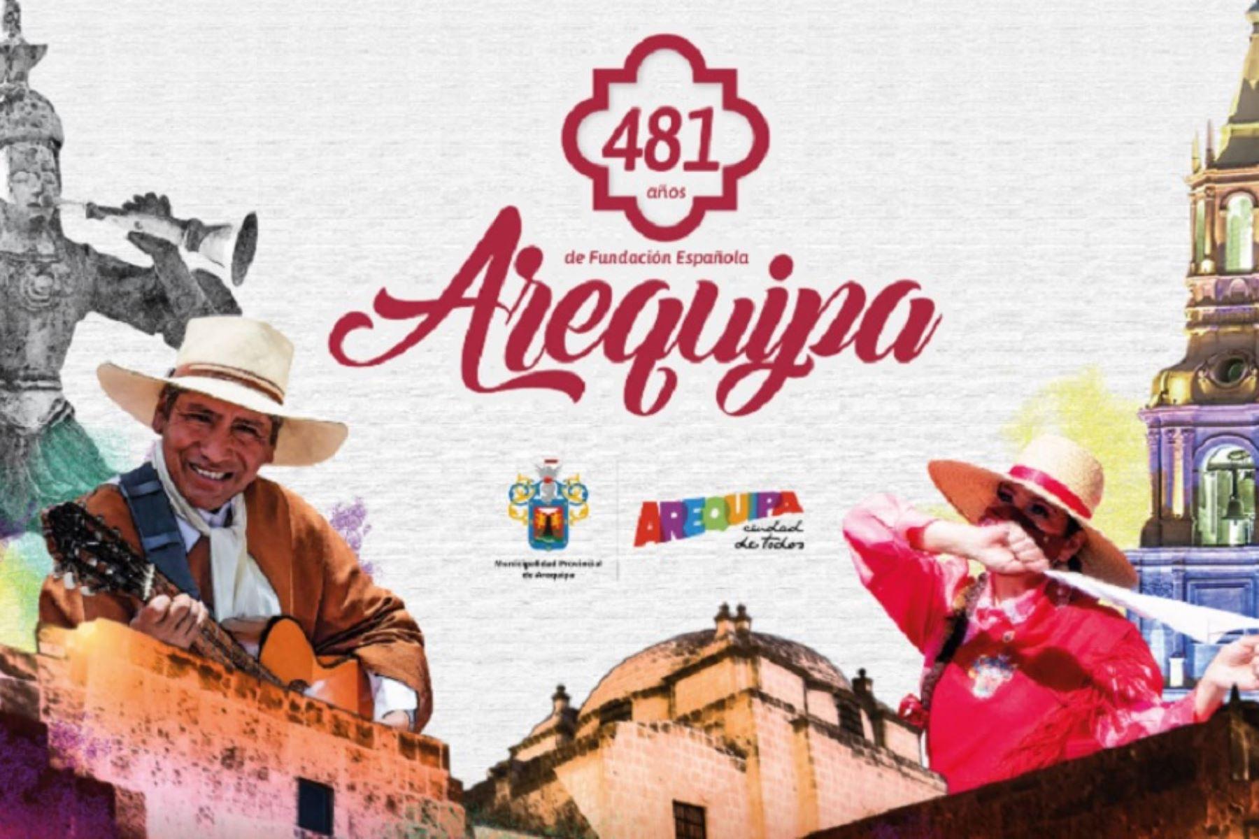 Actividades conmemorativas por el 481 aniversario de la fundación española de la ciudad de Arequipa, cuya fecha central es el 15 de agosto. Foto: Facebook Municipalidad Provincial de Arequipa