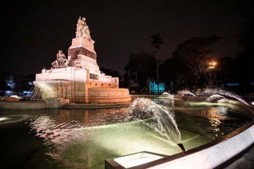 Parque de la Exposición: entregan renovada fuente china con 100 años de antigüedad. Foto: ANDINA/Difusión.