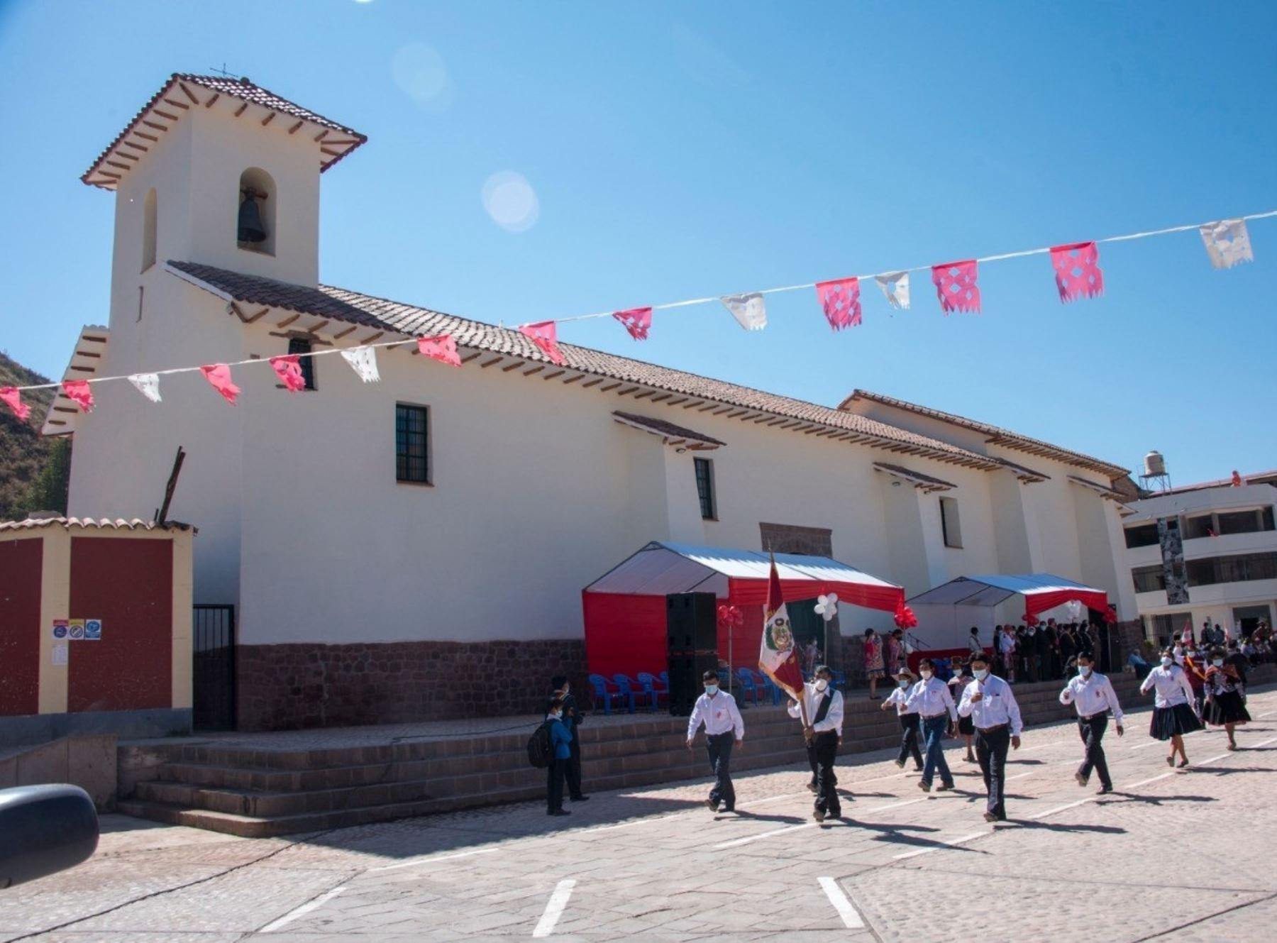 Especialistas de la Dirección de Cultura de Cusco culminaron la restauración del templo colonial San Pedro de Cacha, ubicado en la provincia cusqueña de Canchis. Foto: ANDINA/difusión.