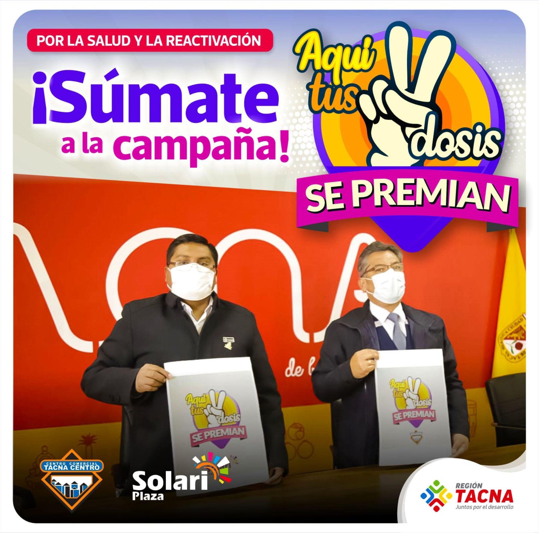 Tacna prepara descuentos y regalos para estimular a ciudadanos a colocarse la segunda dosis.