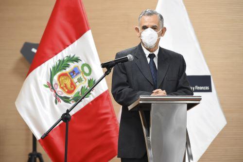 Presentación del ministro de Economía y Finanzas, Pedro Francke
