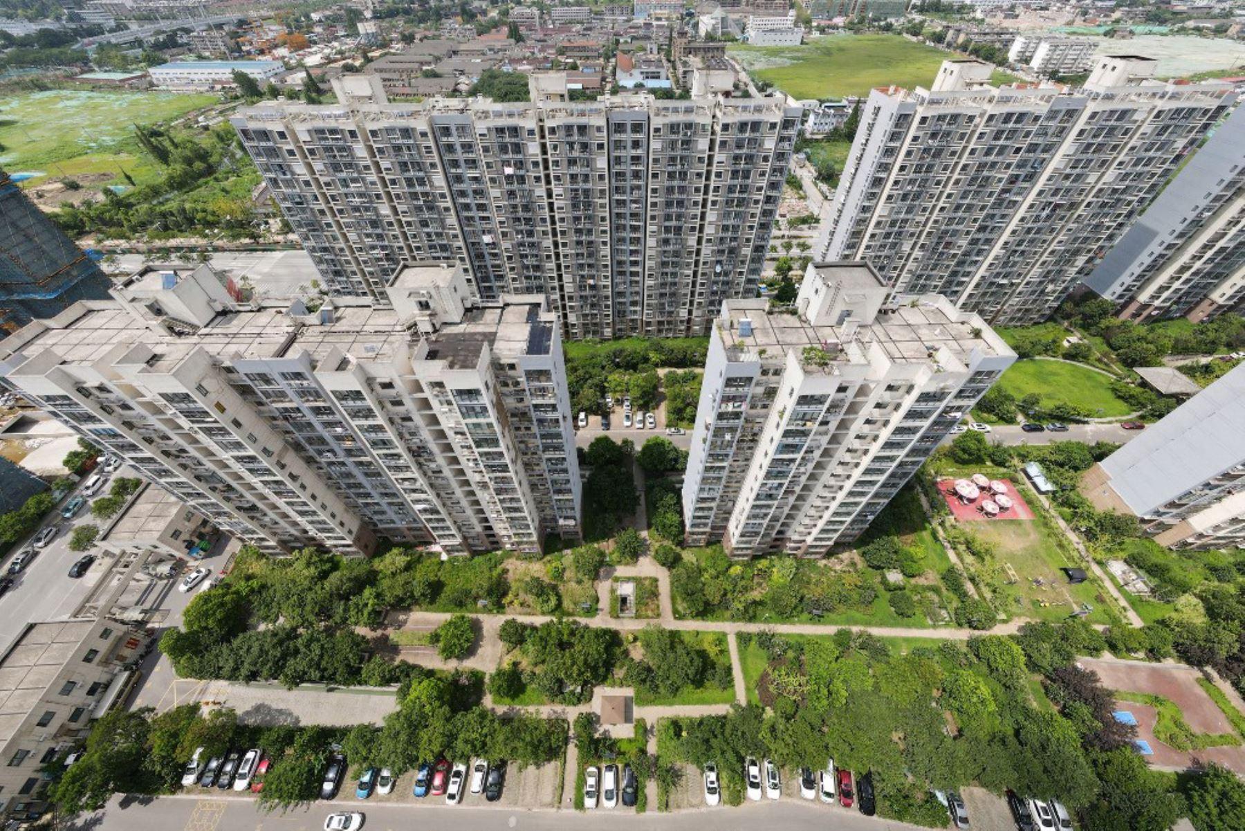 Área residencial restringida debido al coronavirus Covid-19 en Yangzhou, en la provincia oriental de Jiangsu de China  Foto:AFP