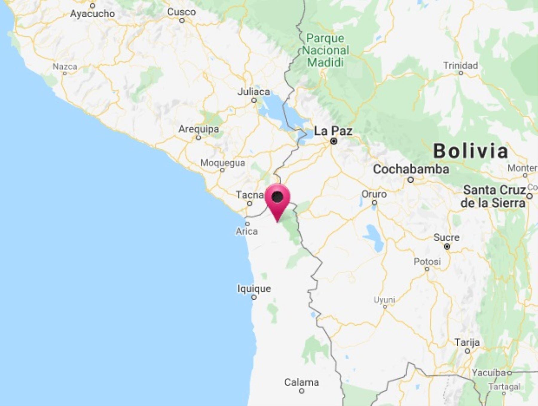 Epicentro del sismo se situó en Chile, a 90 kilómetros al sureste de la localidad de Calana, en Tacna.