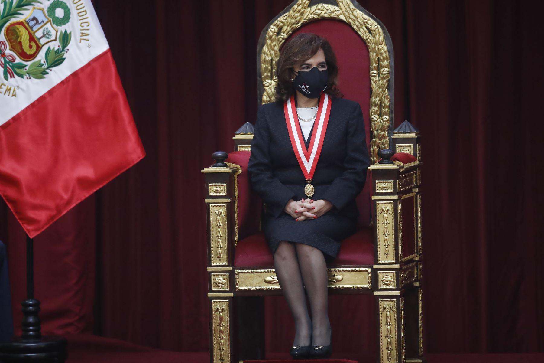 Presidenta del Poder Judicial, Elvia Barrios Alvarado  participa en la celebración del Día del Juez y la Jueza. Foto: ANDINA/ Juan Carlos Guzmán