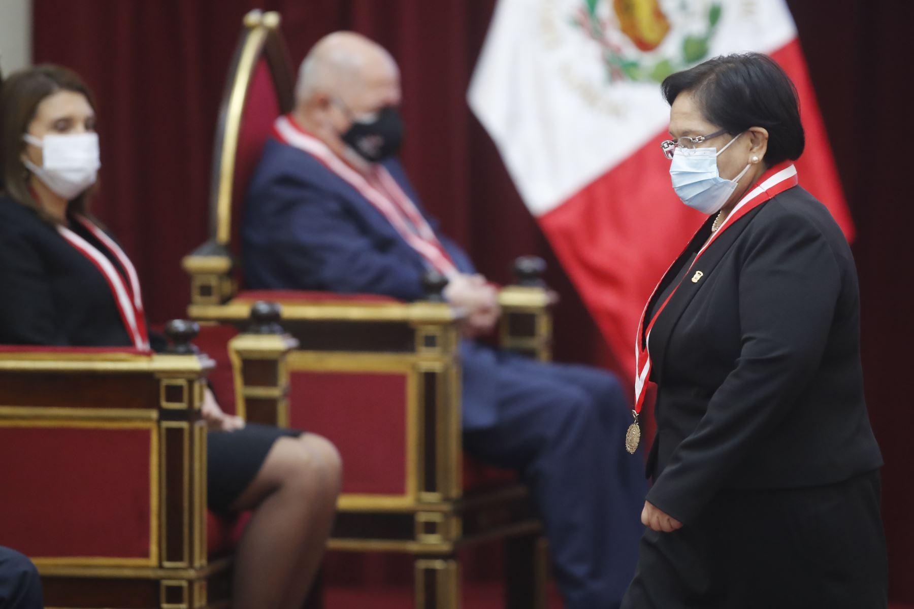 Jefa de la OCMA, jueza suprema, Mariem De la Rosa Bedriñana   participa en la celebración del Día del Juez y la Jueza. Foto: ANDINA/ Juan Carlos Guzmán