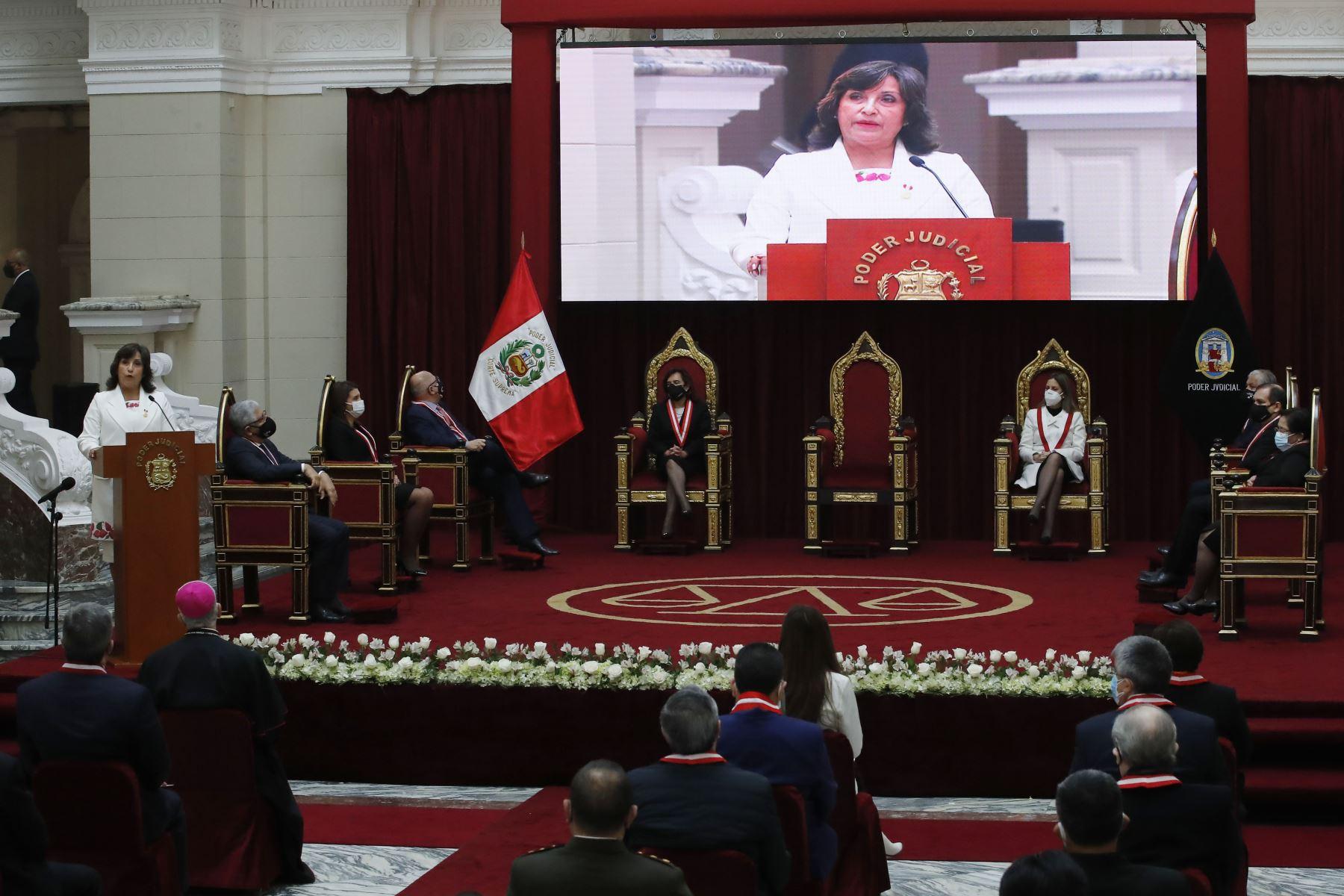 Vicepresidenta de la República, Dina Boluarte  participa en la celebración del Día del Juez y la Jueza. Foto: ANDINA/ Juan Carlos Guzmán