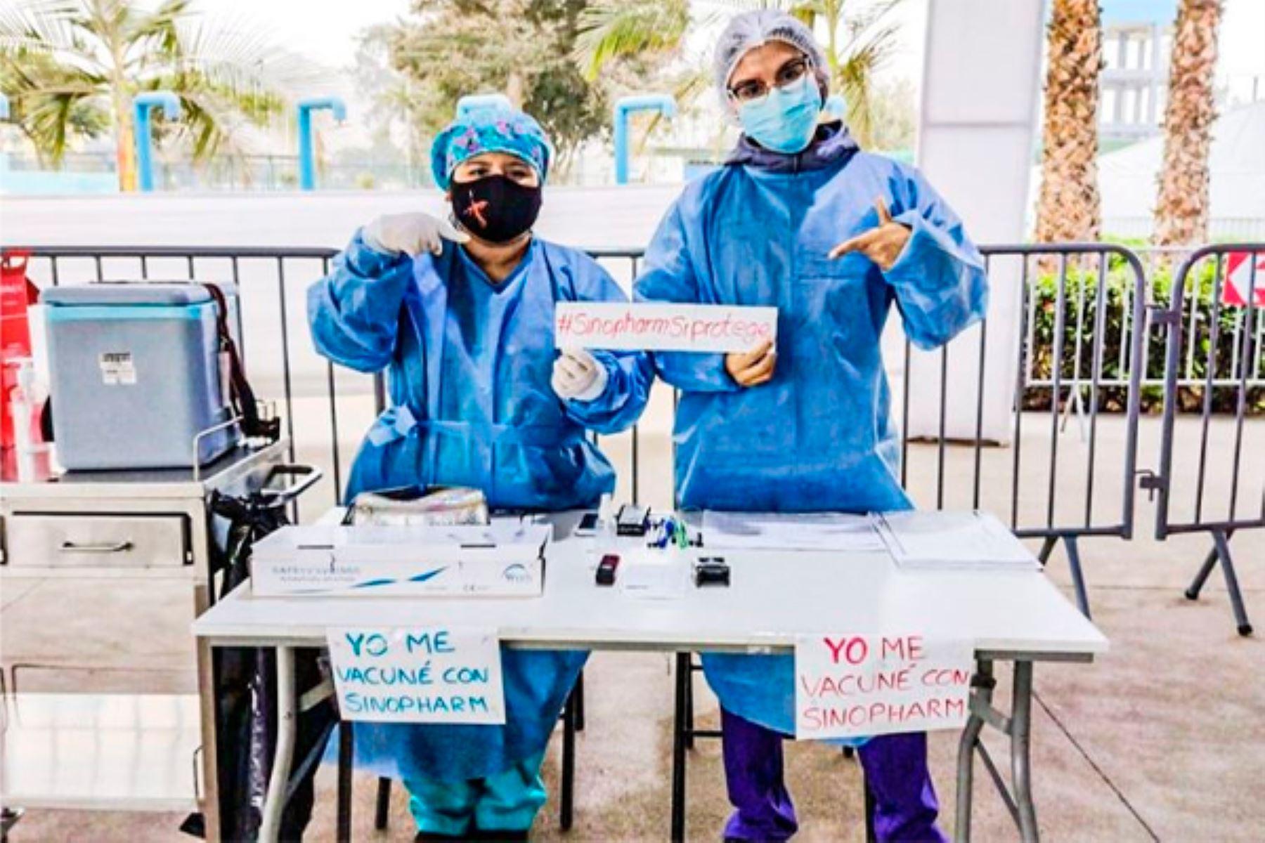 Covid-19: Profesionales de la salud dan testimonio de la eficacia de la vacuna Sinopharm