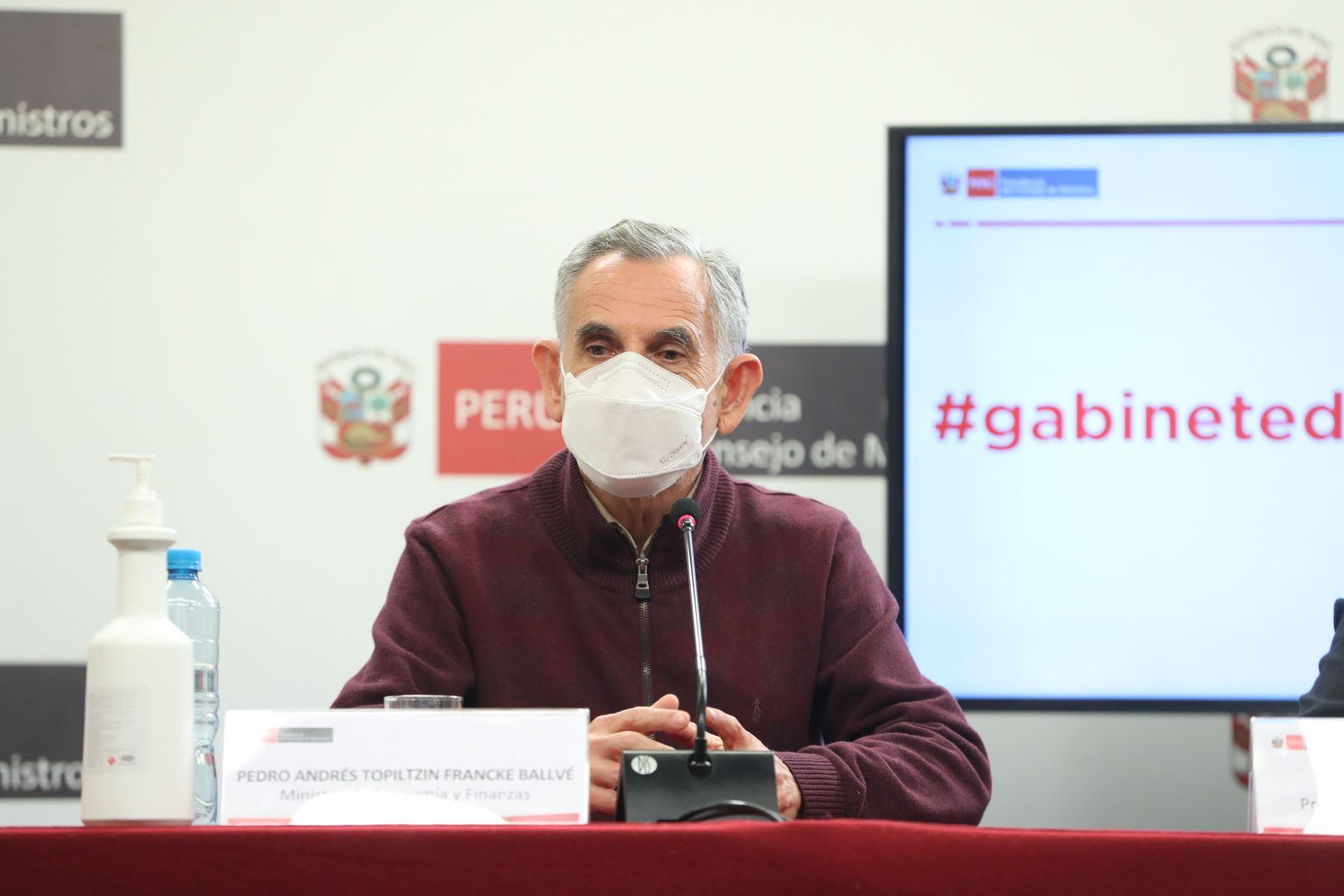 Ministro de Economía y Finanzas, Pedro Francke. ANDINA/Difusión