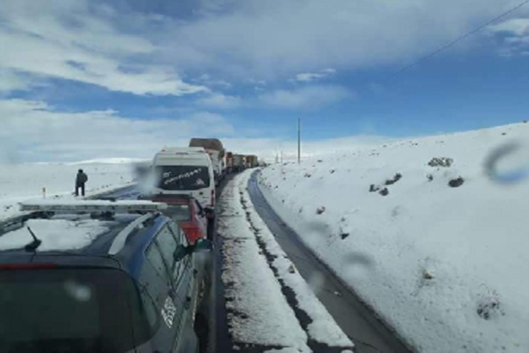 Según las imágenes satelitales del Senamhi, la cobertura de nieve alcanzó 29,867 kilómetros cuadrados en el territorio de la región Puno.