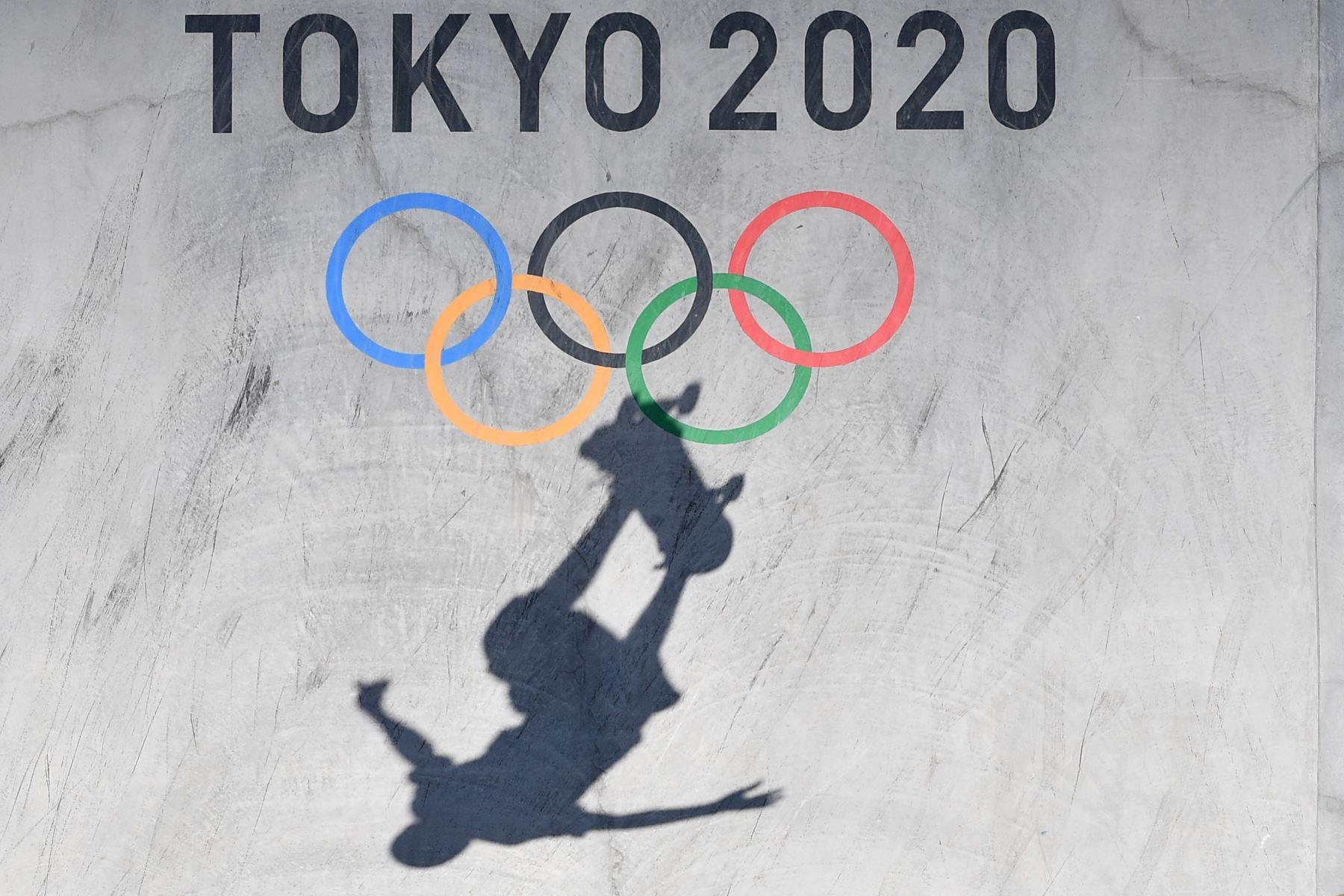 Un ciclista compite en las eliminatorias del parque masculino durante los Juegos Olímpicos de Tokio 2020 en Ariake Sports Park Skateboarding en Tokio. Foto: AFP