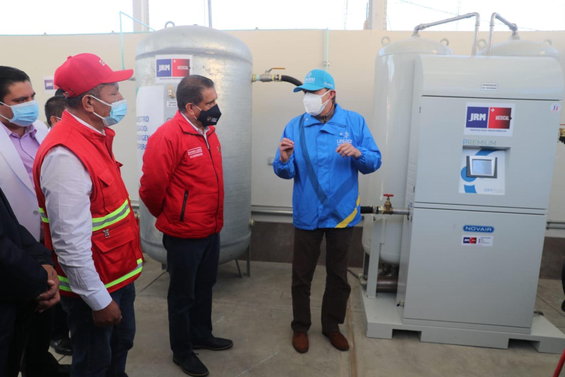 La Libertad: inauguran planta de oxígeno en Hospital Elpidio Berovides Pérez de Otuzco