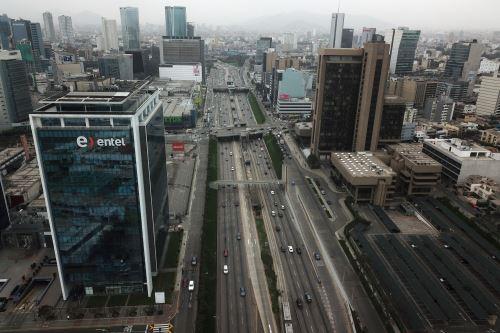Centro financiero de Lima. Foto: ANDINA/Juan Carlos Guzmán