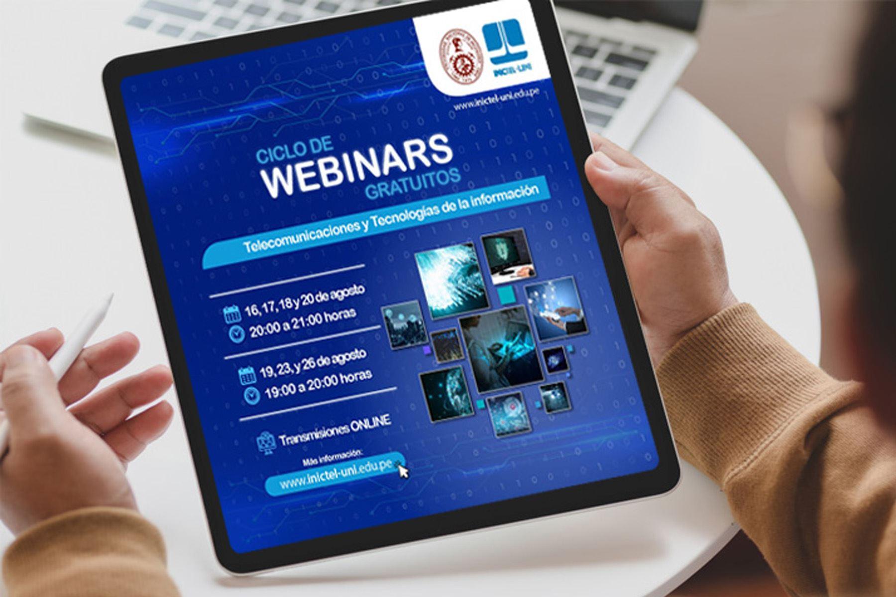 El ciclo de webinars gratuitos se llevará a cabo hasta el 26 de agosto con expertos en tecnologías.
