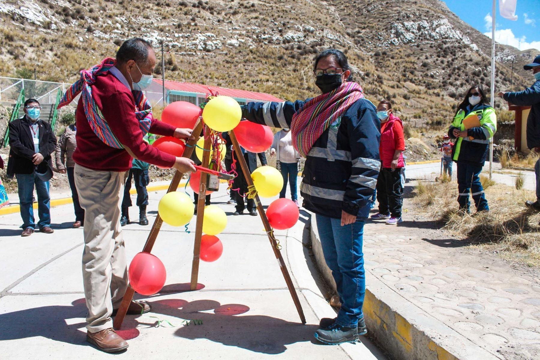 Entrega de obras de remediación de suelos mineralizados en La Oroya. Foto: Cortesía.