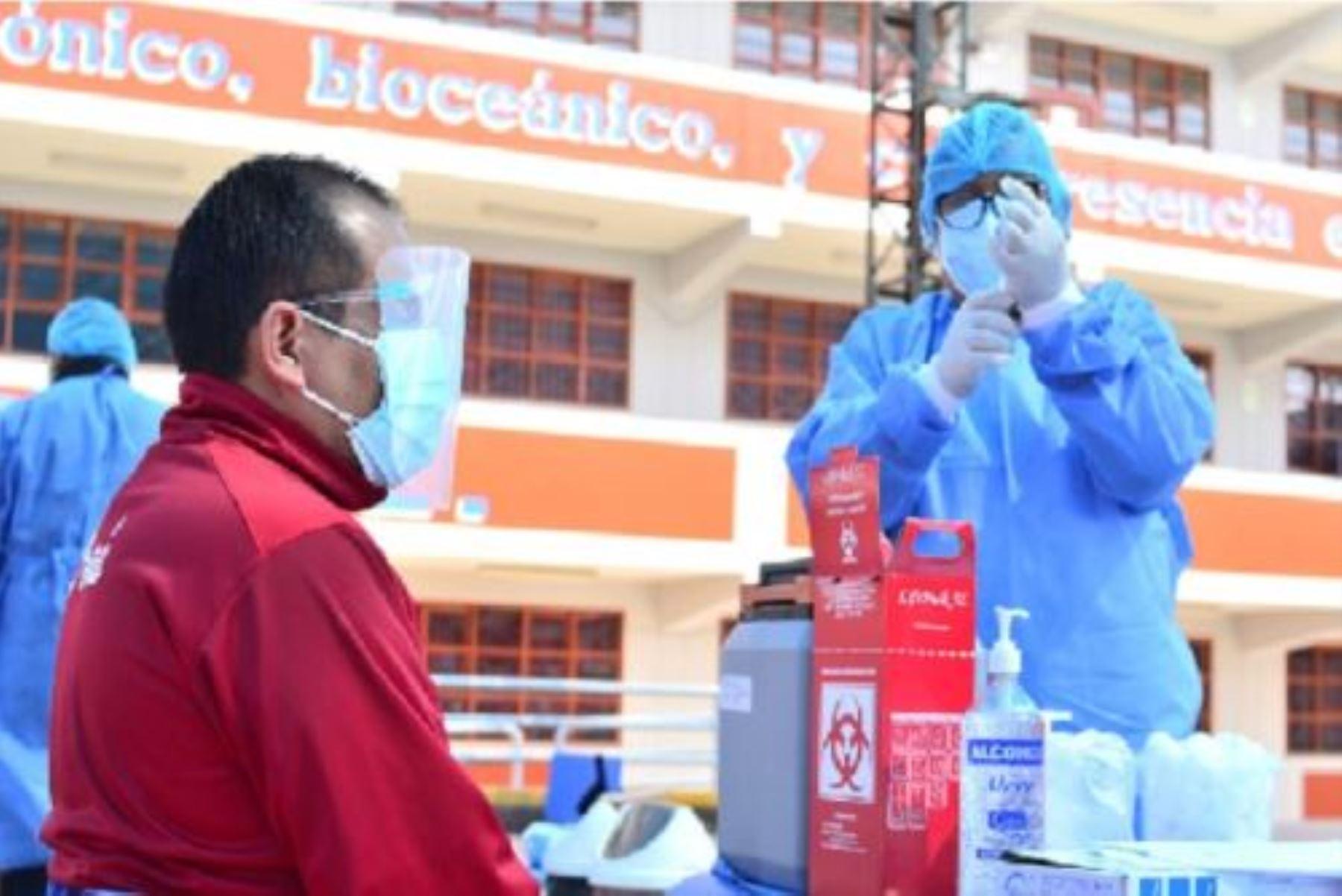 Tacna prioriza aplicación de la segunda dosis de la vacuna contra el covid-19. Cortesía