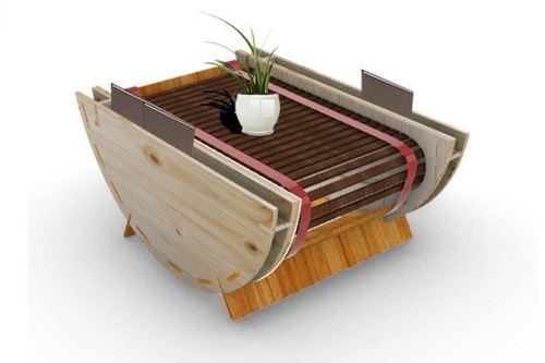 Este novedoso mueble diseñado por estudiante de la UNI puede convertirse en una silla, mesa estática o mecedora. Foto: UNI