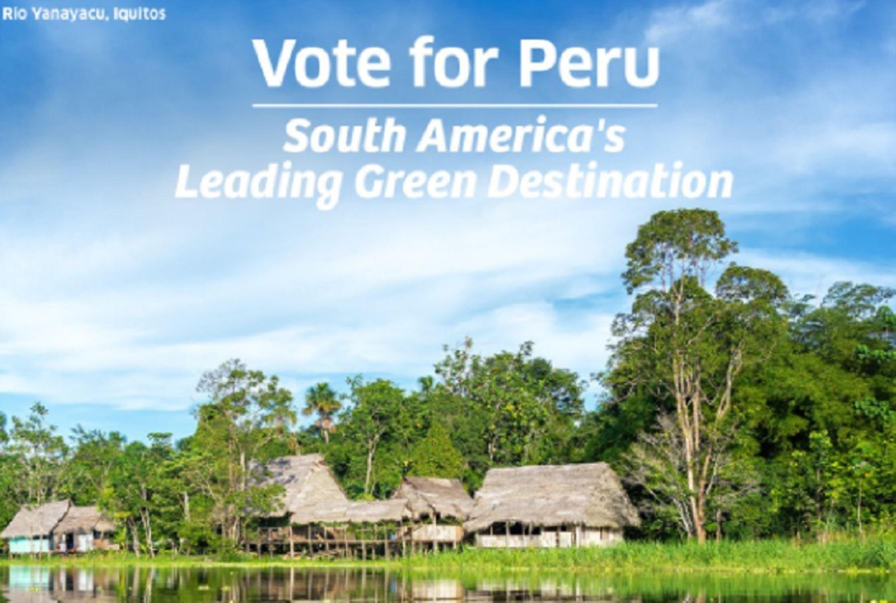 El Perú aspira ser, por segundo año consecutivo y por quinta vez, el mejor Destino Verde Líder de Sudamérica en los World Travel Awards 2021, conocidos como los premios Óscar del Turismo.
