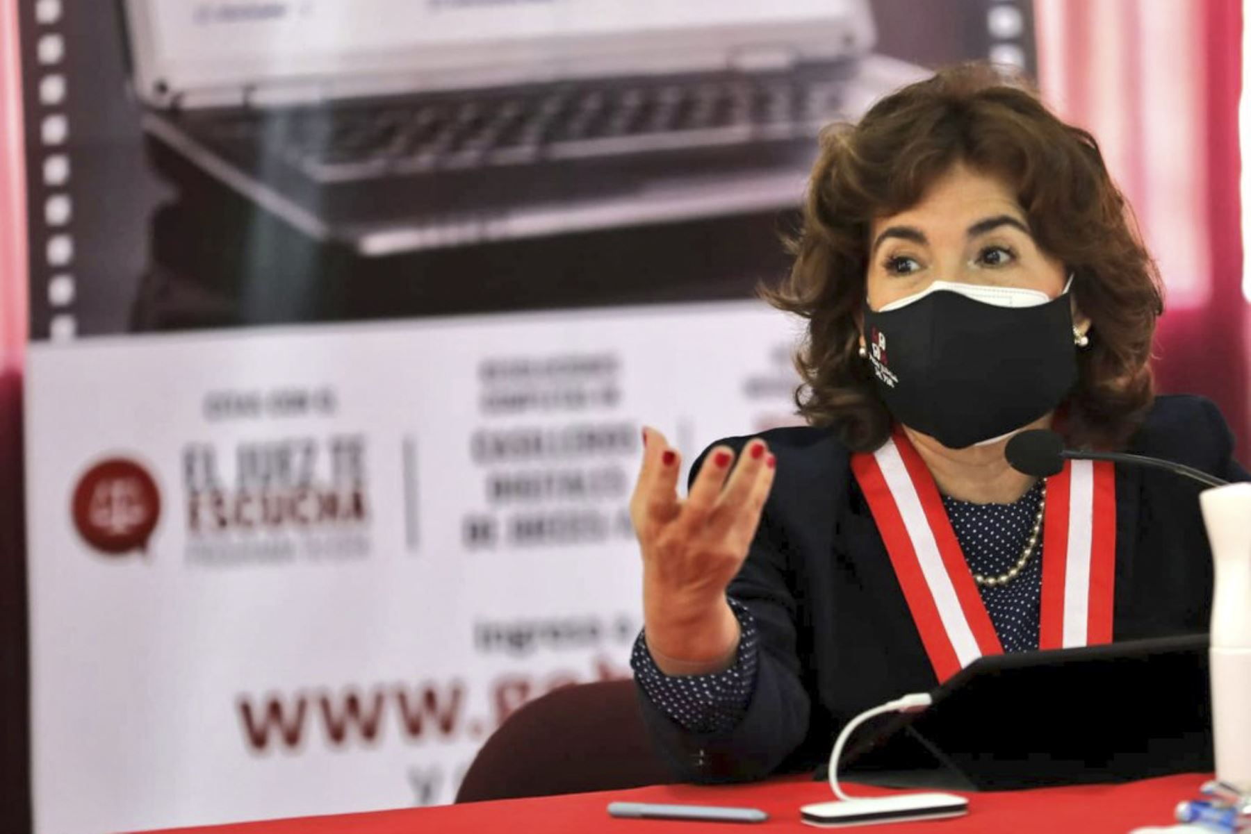 Presidenta del PJ destaca esfuerzos para abordar problemática de violencia contra la mujer