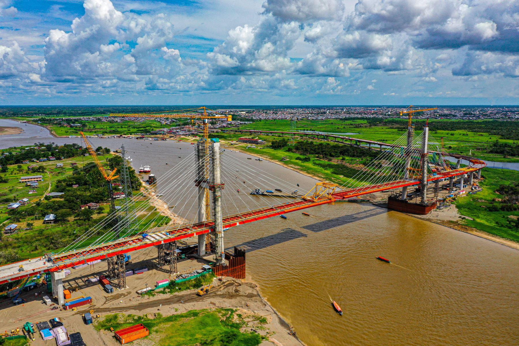 Construcción del puente Nanay en la región Loreto. ANDINA/Difusión