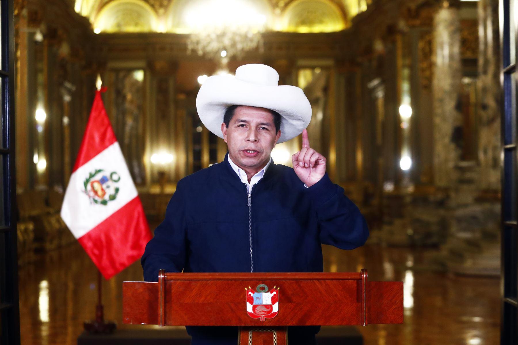 Presidente Castillo dará esta tarde mensaje a la Nación