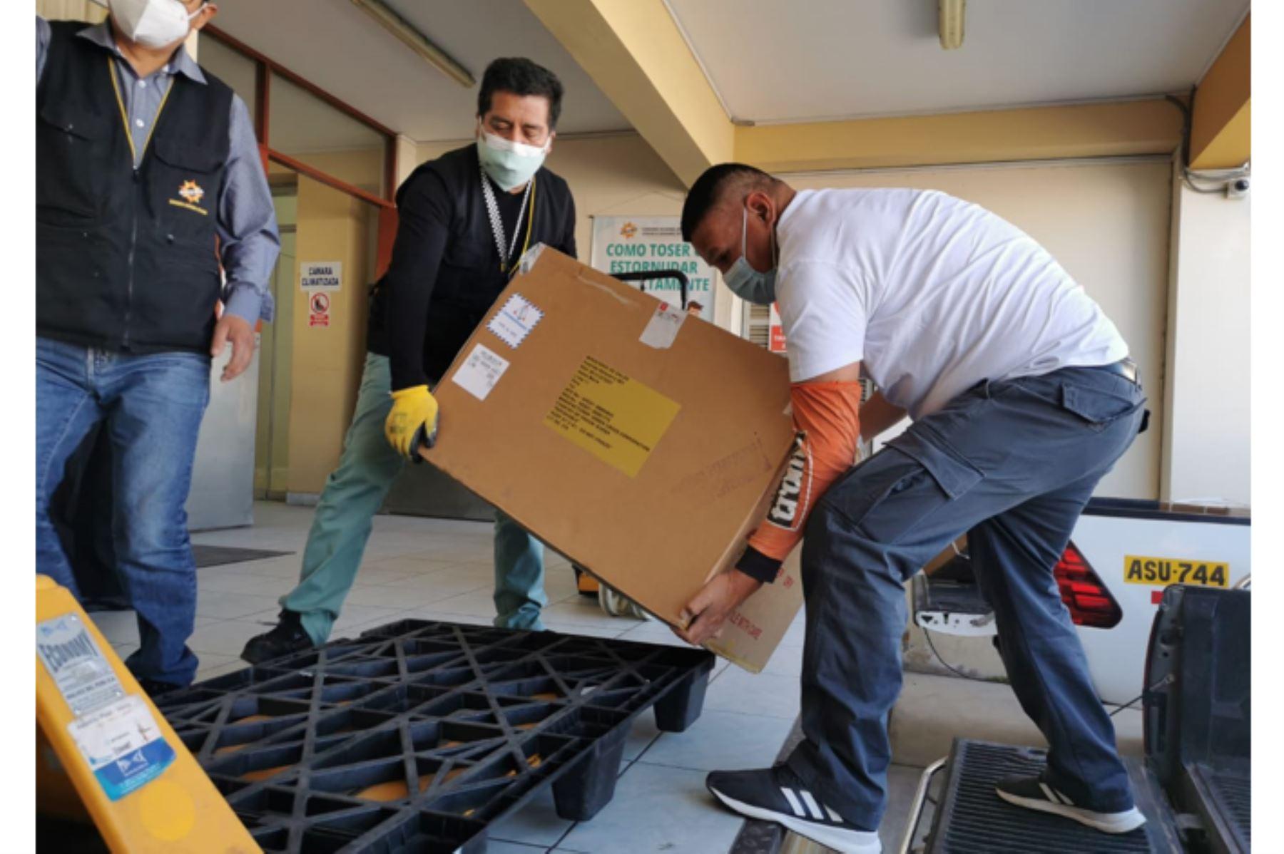 Arequipa recibió 52, 650 dosis de vacunas contra la covid-19, de Pfizer y 10,000 de Sinopharn. ANDINA/Difusión