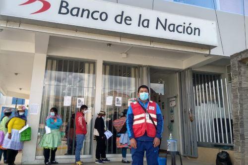 Beneficiarios del bono Yanapay Perú. ANDINA/Difusión