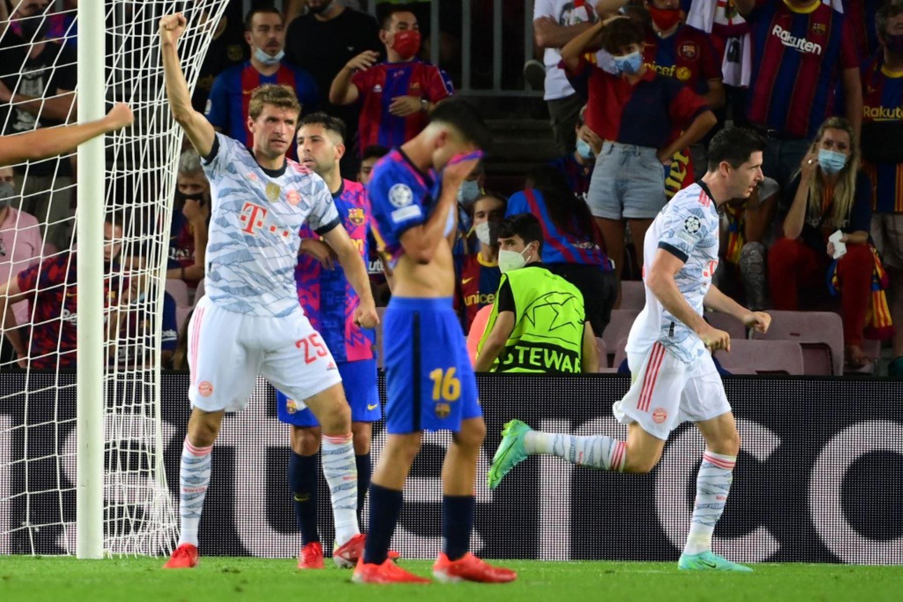 Barcelona no pudo ante el poderío del Bayern Múnich en el inicio de la Liga de Campeones