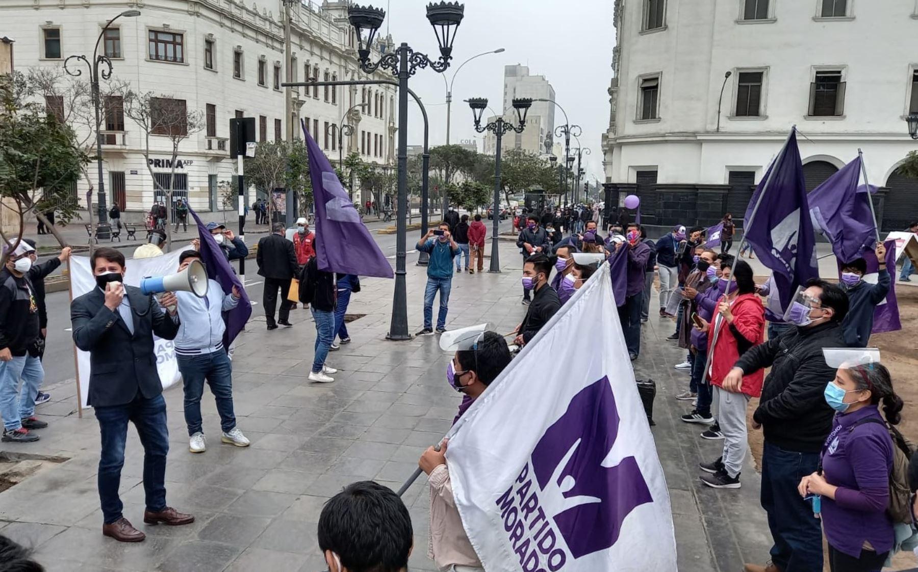 Partido Morado sustentará mañana apelación ante pleno del JNE