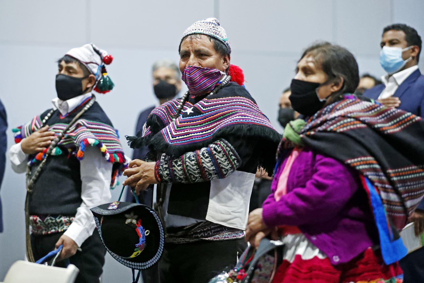Presidente Castillo participó de la presentación del pesebre de la Cultura Chopcca, que será exhibido en Navidad en la Plaza San Pedro del Vaticano. Foto: ANDINA/Prensa Presidencia