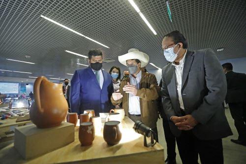 Presidente Castillo participó de la presentación del pesebre de la Cultura Chopcca, que será exhibido en el Vaticano