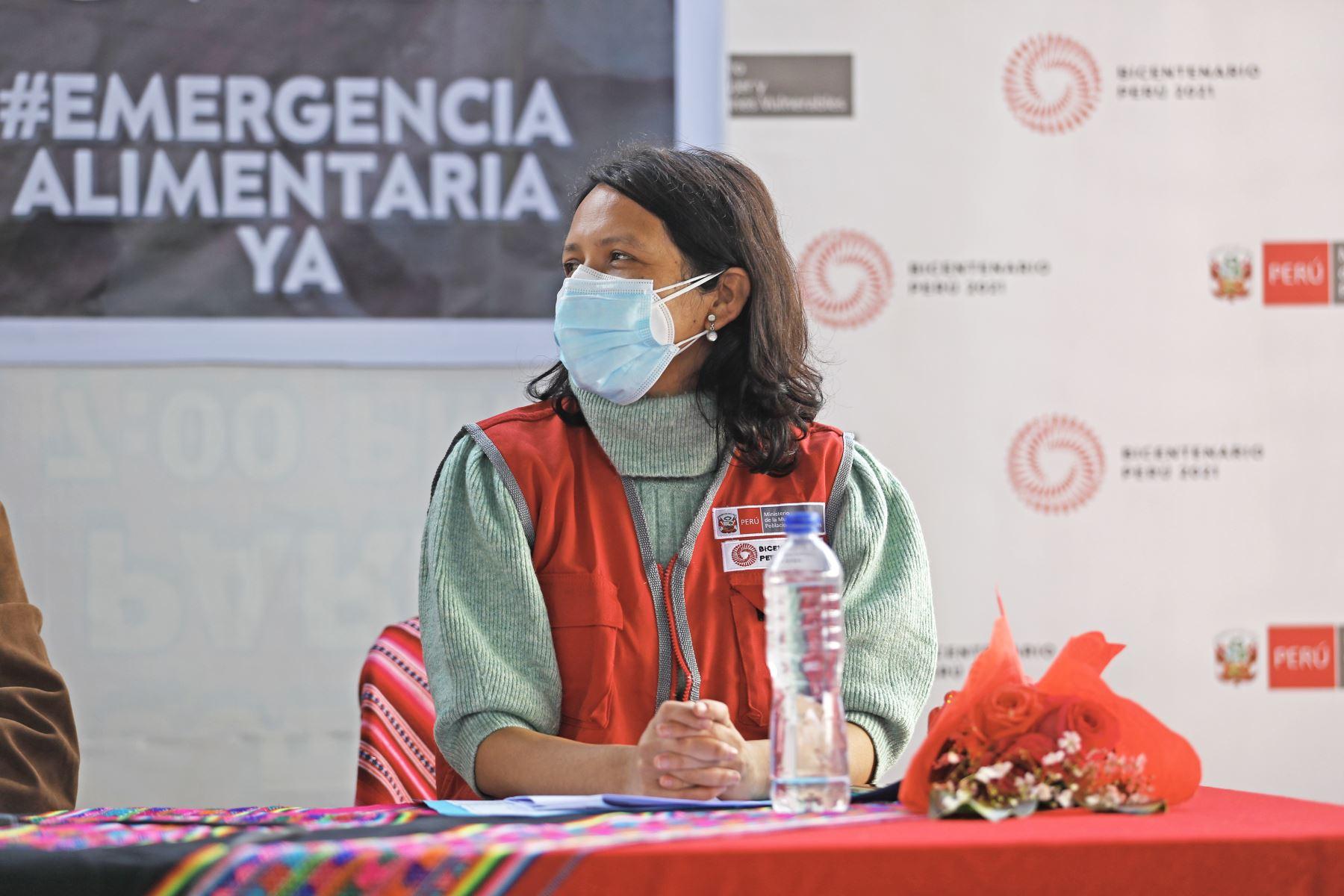 Jefe de Estado, Pedro Castillo, participó del Primer Encuentro del Poder Ejecutivo con las Organizaciones de Ollas Comunes de Lima. Foto: ANDINA/Prensa Presidencia