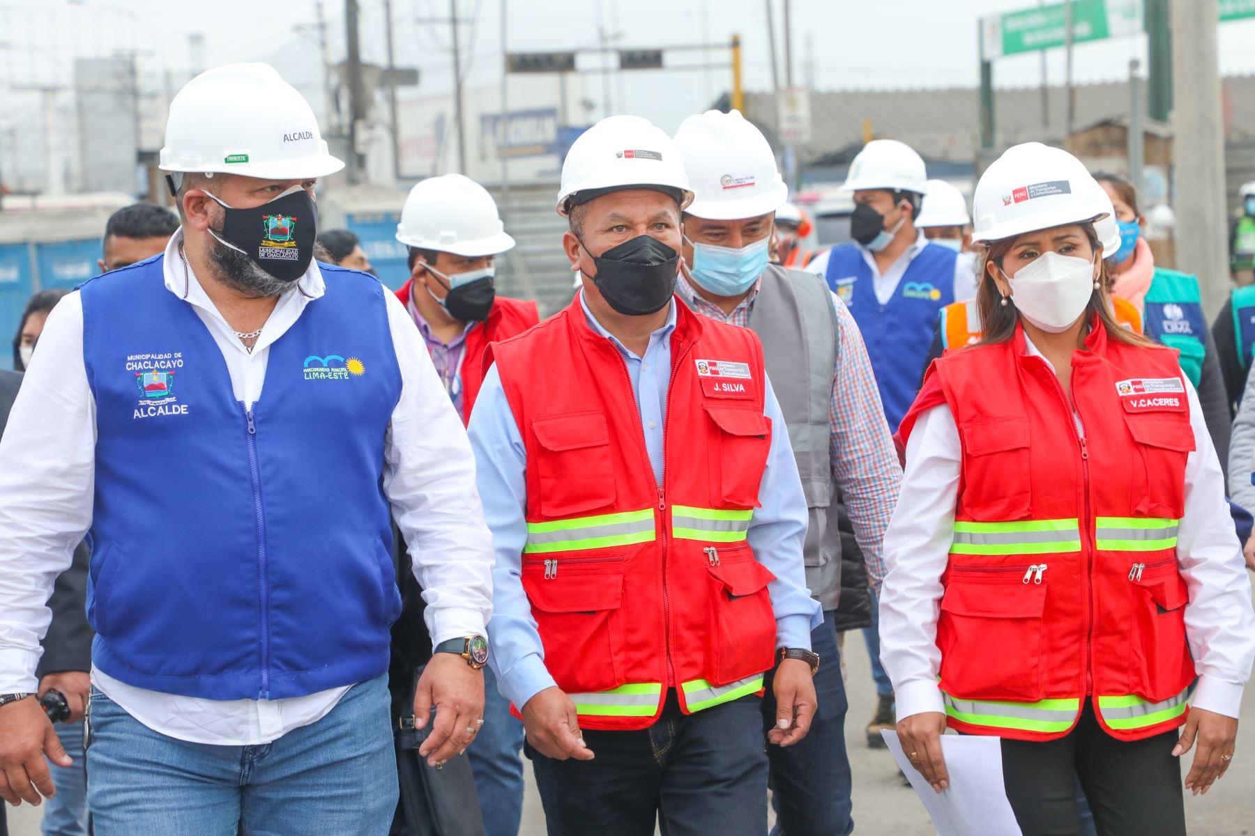 Ministro Juan Francisco Silva Villegas lideró comitiva integrada por la ATU, la Municipalidad Metropolitana de Lima y alcaldes de la Mancomunidad Lima Este. Foto: MTC