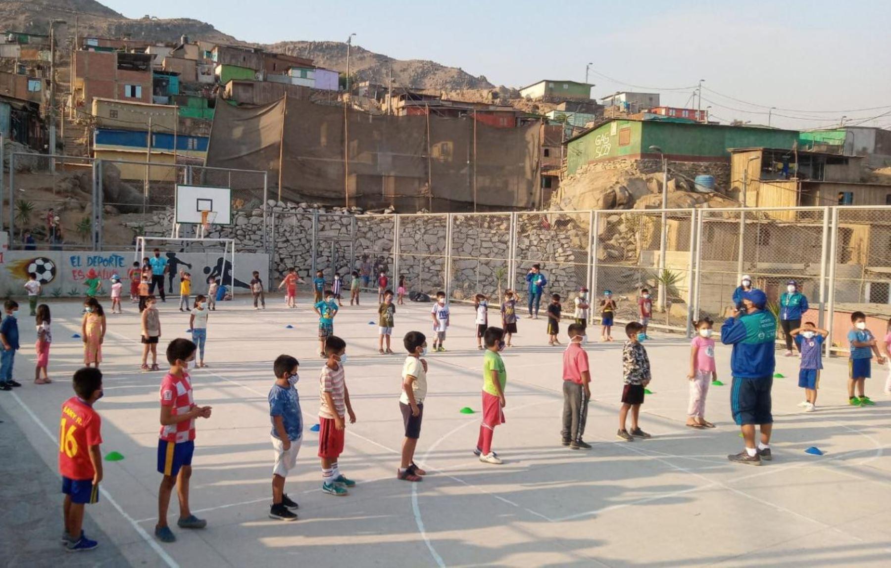 MML organiza jornadas de deporte y recreación en obras entregadas a población