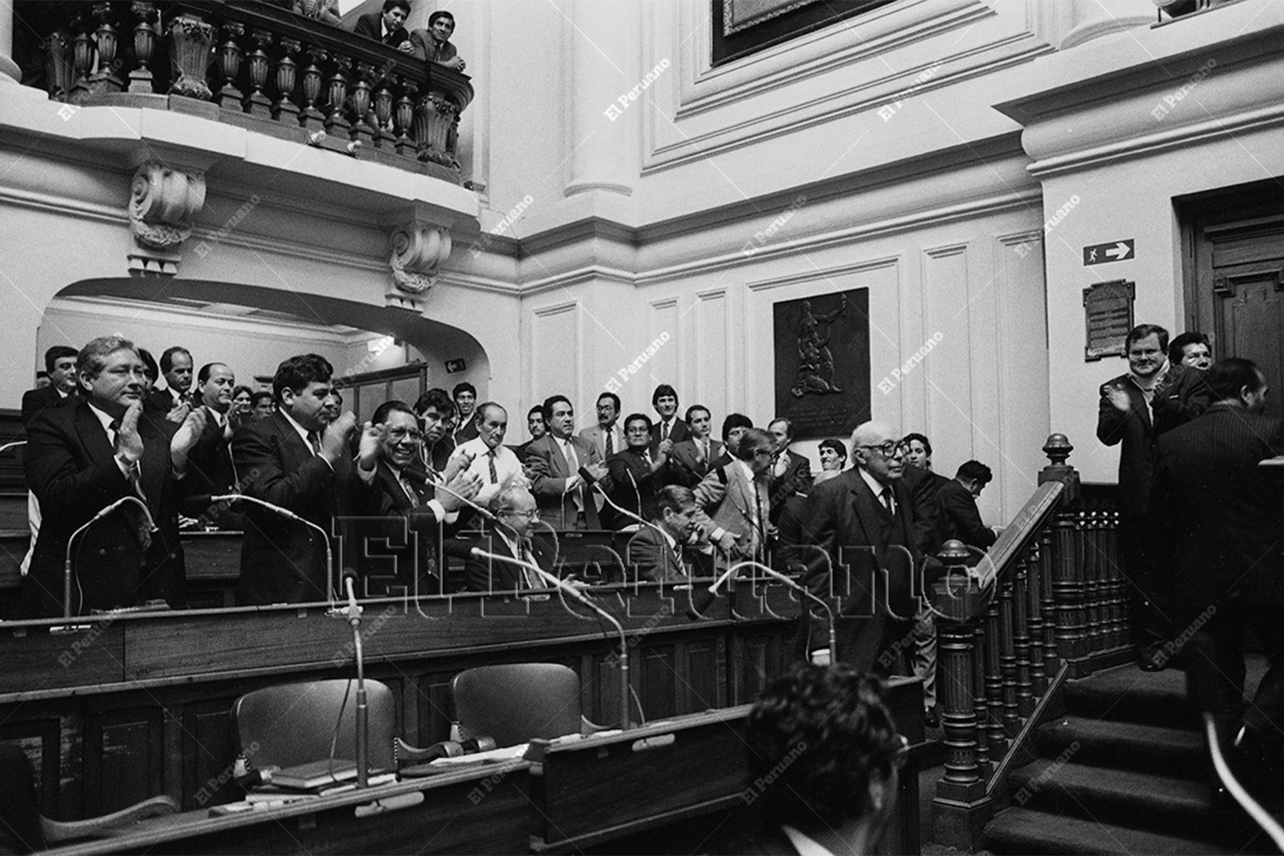 Lima - 26 julio 2007 / Elección de Roberto Raírez del Villar como presidente del Cámara de Diputados del Congreso de la República.  Foto: Archivo Histórico de El Peruano / Jorge Paz