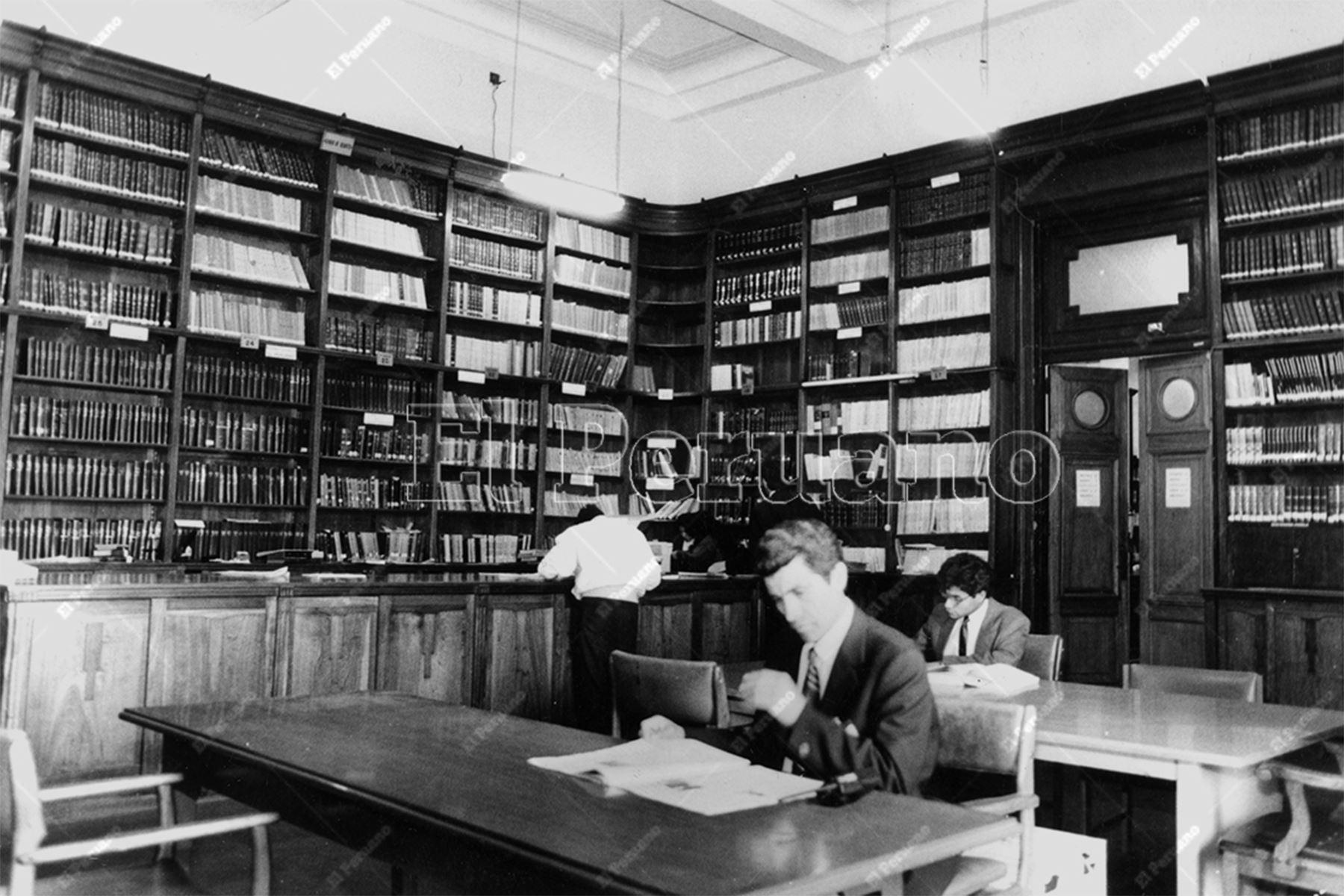 Lima - 6 setiembre 1996 / Biblioteca del Congreso de la República. Foto: Archivo Histórico de El Peruano