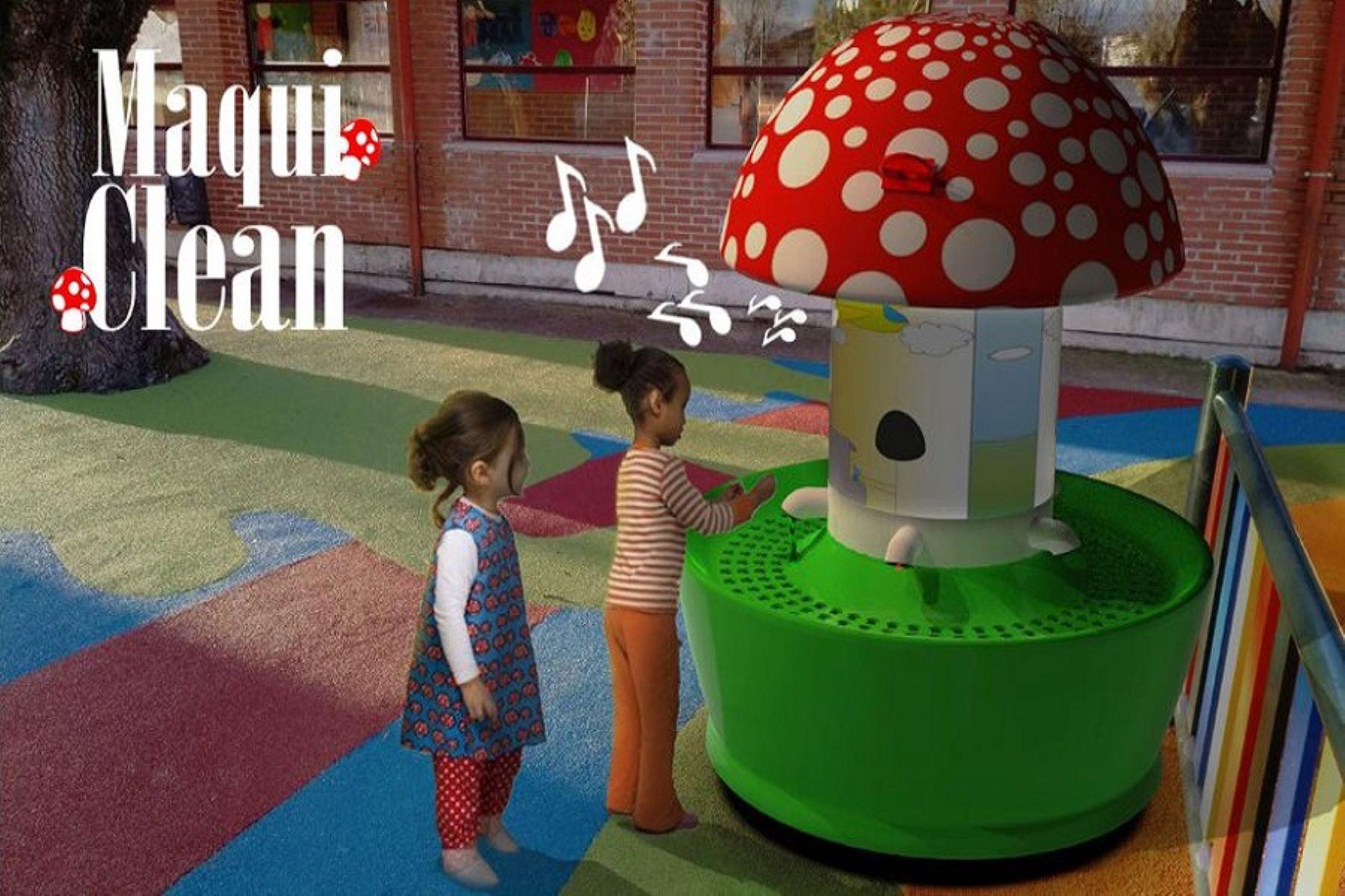 Maqui Clean, que también obtuvo medalla de oro, es un lavadero interactivo para niños de 3 a 6 años que cumple con los protocolos de bioseguridad y cuenta con un cronómetro automático. Foto: UPN