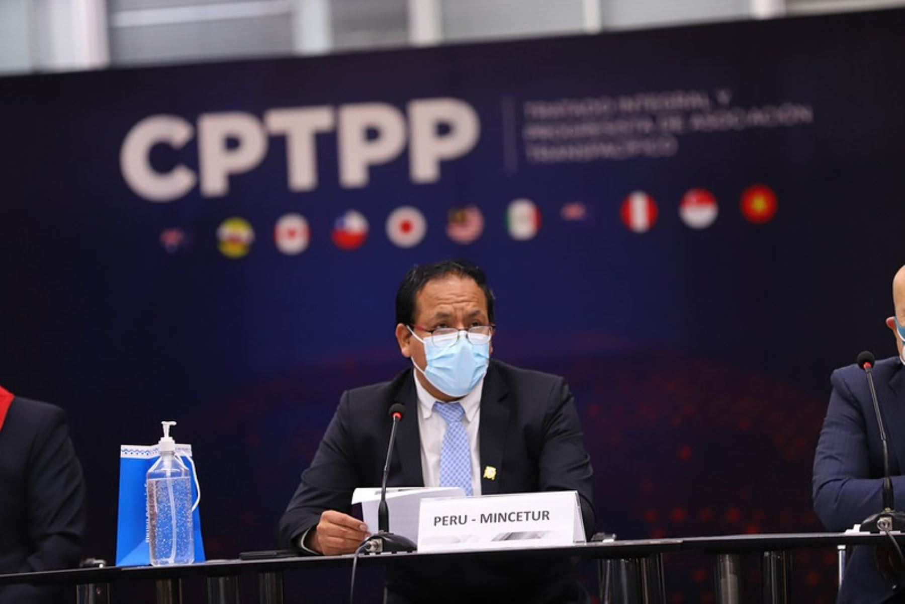 Ministro de Comercio Exterior y Turismo, Roberto Sánchez, anuncia próxima entrada en vigencia del Tratado Integral y Progresista de Asociación Transpacífico (CPTPP). Foto: Cortesía.