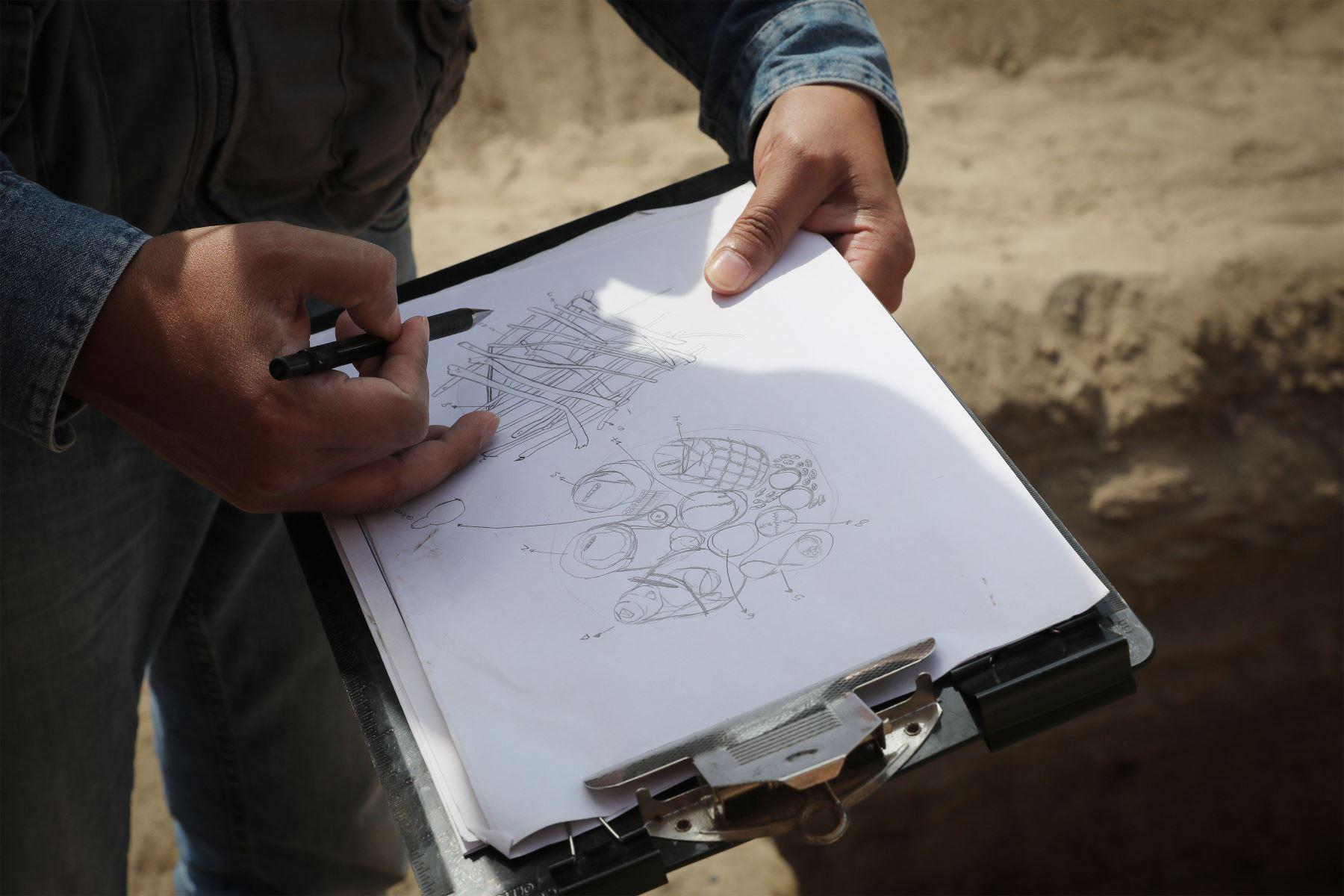 Encuentran contexto funerario en balneario al sur de Lima, en Chilca. Pertenece a cultura local previa a los incas. Foto: ANDINA/ Andrés Valle