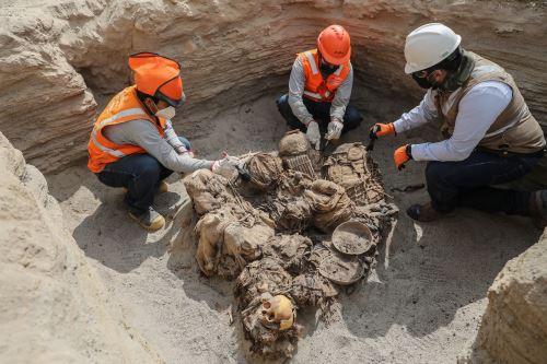 Encuentran restos arqueológicos de 700 años de antigüedad en el  distrito de Chilca
