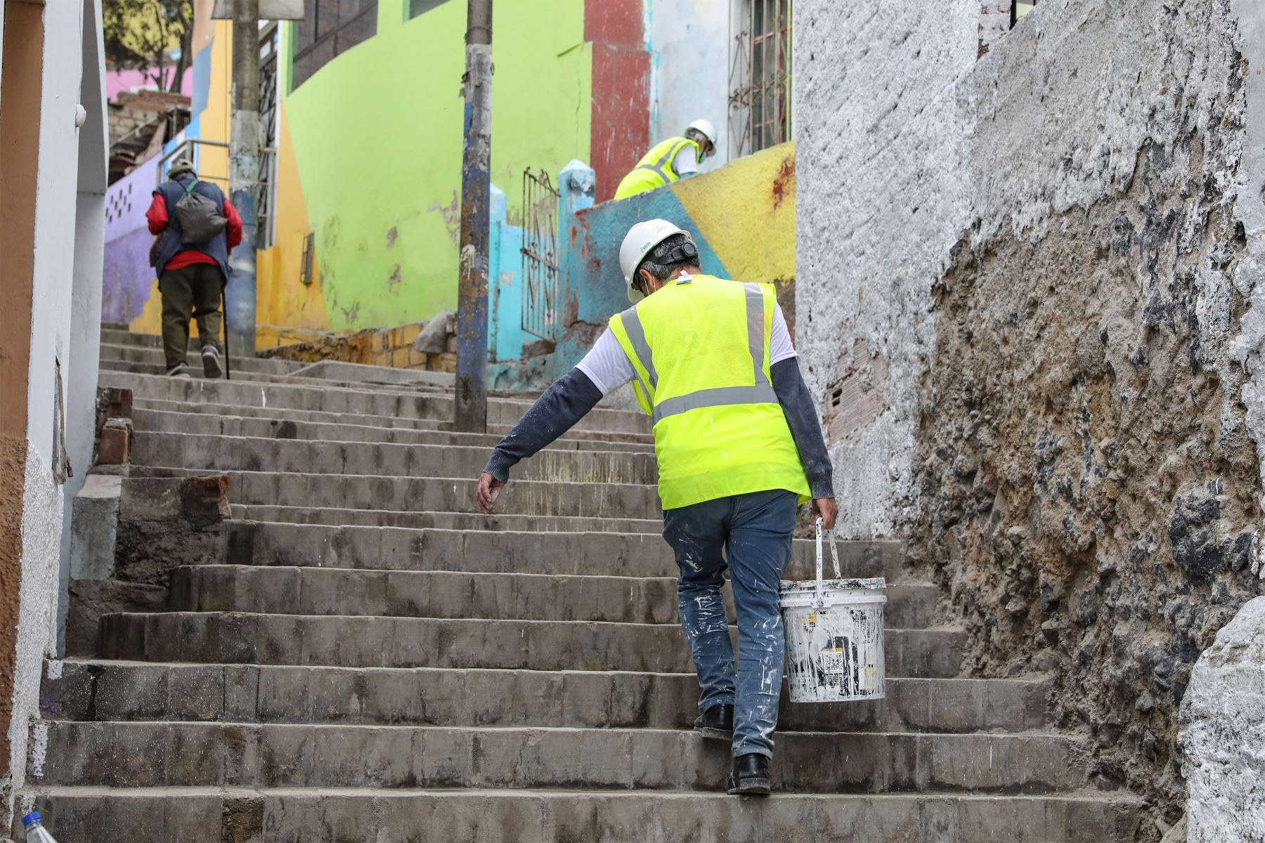 Se busca con el proyecto vencer los estigmas. Hoy, muchos jóvenes que viven en el San Cristóbal cambian sus direcciones porque permanece un estigma, la mácula de la violencia. Foto: ANDINA/ Andrés Valle