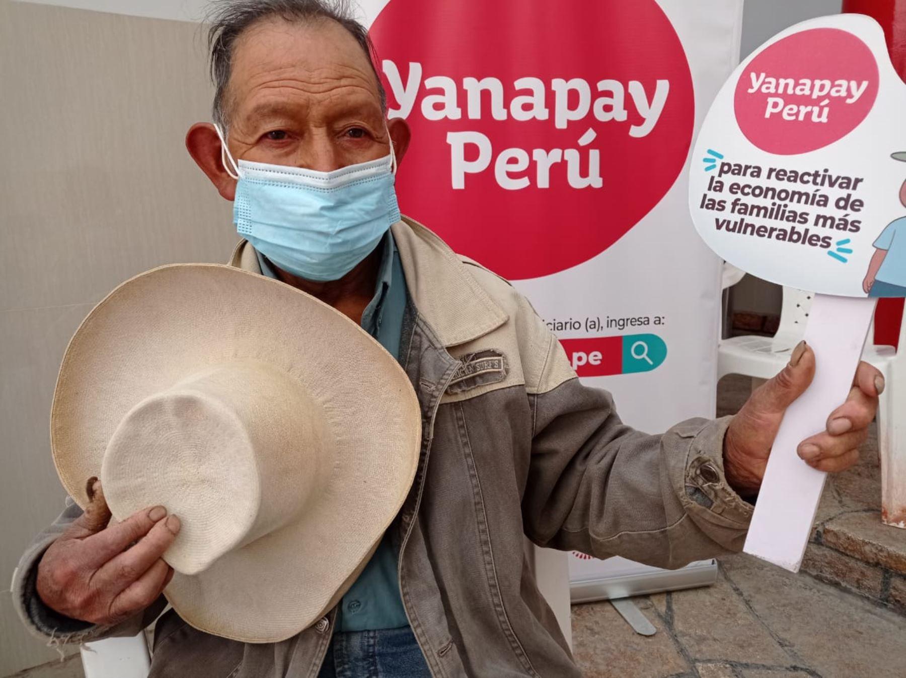 Más de 860,000 personas cobrarán el bono Yanapay Perú en la región Cajamarca, informó el programa Pensión 65. ANDINA/Difusión