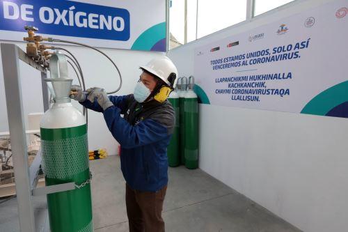 Proyecto Legado puso en funcionamiento una planta de oxígeno medicinal en el Hospital Departamental de Huancavelica. ANDINA/Difusión