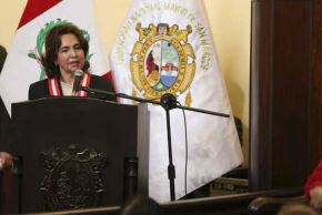 La presidenta del Poder Judicial, Barrios Alvarado, destacó el trabajo que han alcanzado las mujeres en el campo de la educación al indicar que, actualmente, ya son 13 las mujeres que ocupan el cargo de rectoras en distintas universidades del país. ANDINA/ Poder Judicial