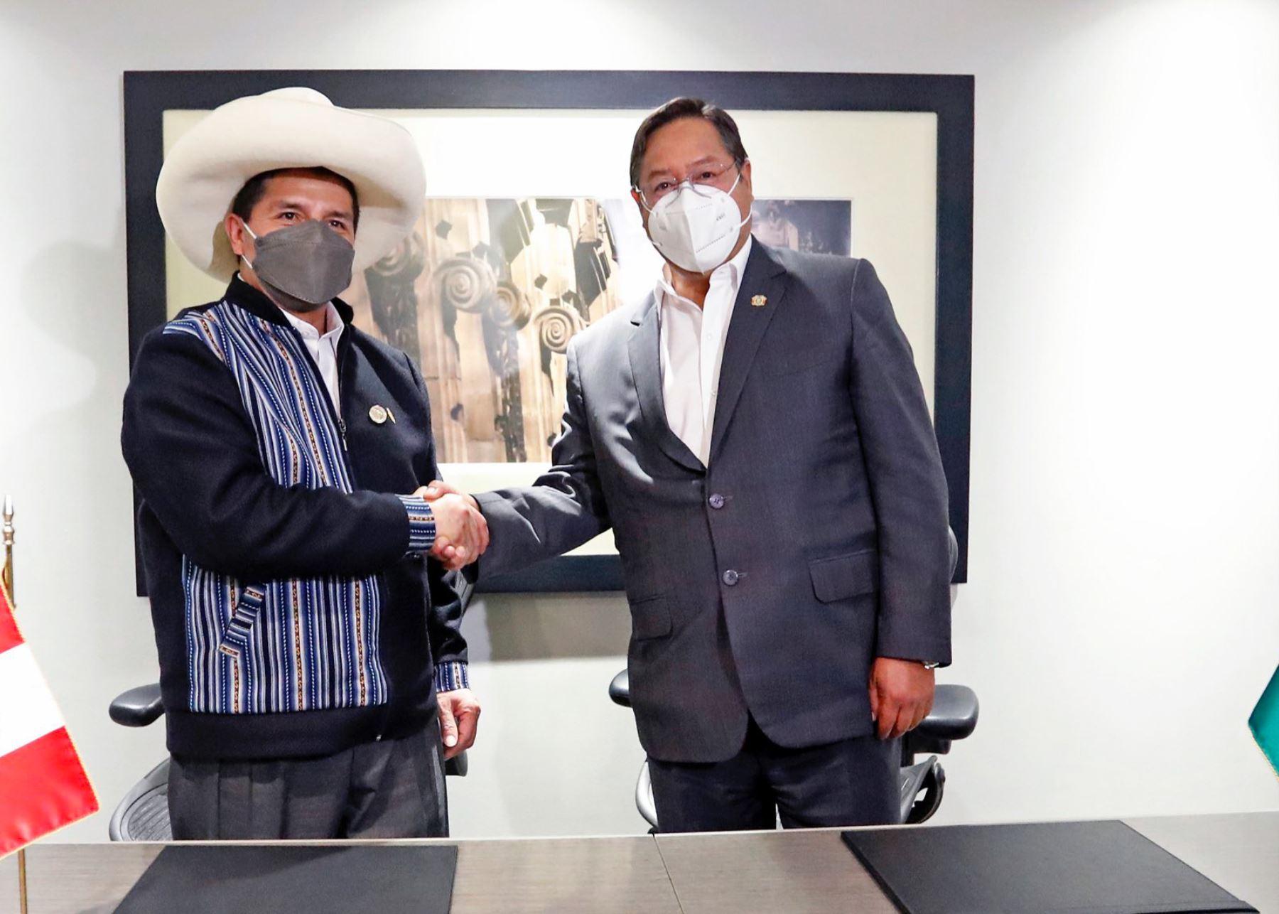 Presidente Pedro Castillo se reunió con su homólogo de Bolivia, Luis Arce, en México.