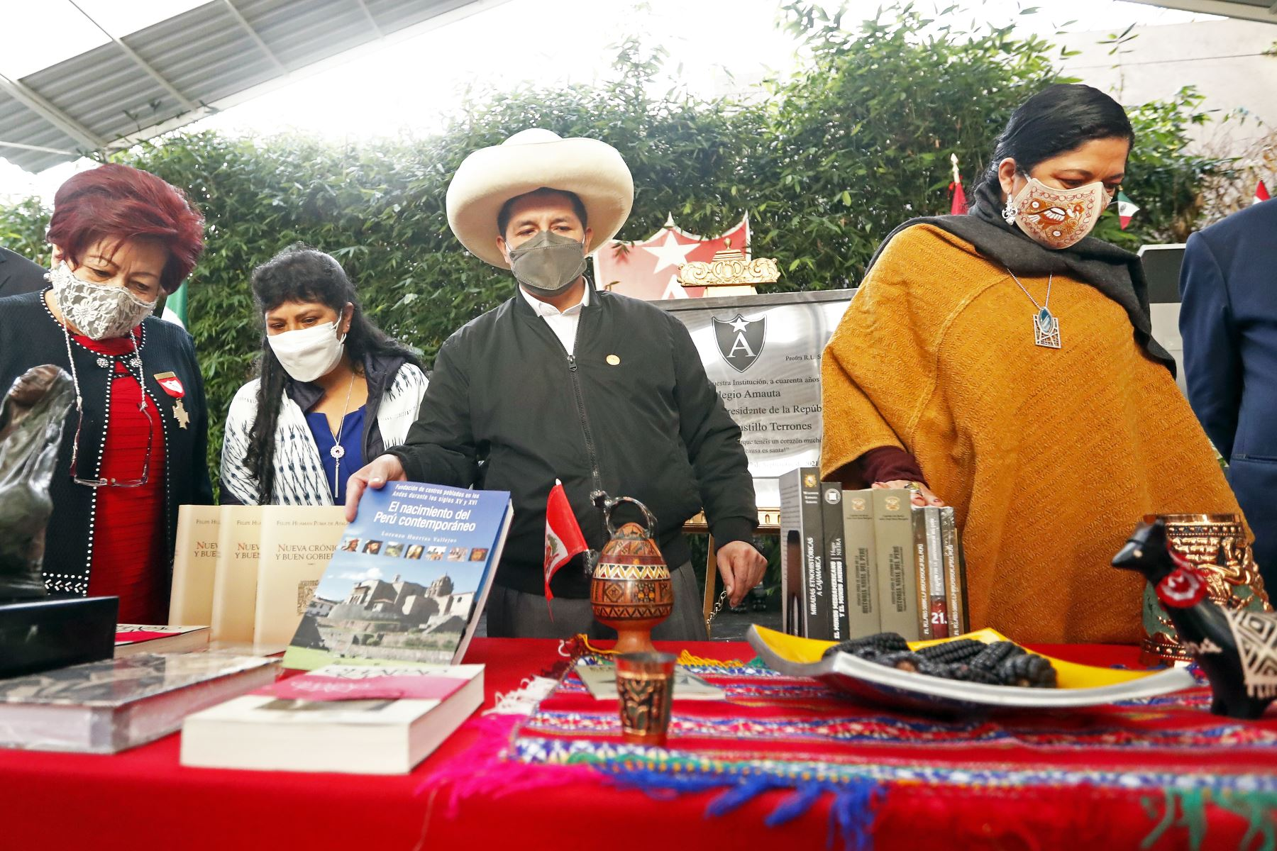 El presidente de la República, Pedro Castillo, participó en una ceremonia por el 40 aniversario de la escuela privada mexicano-peruana
