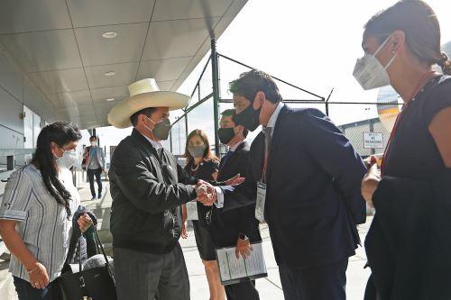 Presidente Castillo llegó a Estados Unidos para participar en la sesión del Consejo Permanente de la OEA