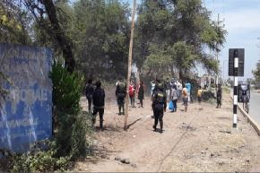 Se espera que esta semana, la Policía Nacional pueda desalojar a los 60 invasores.