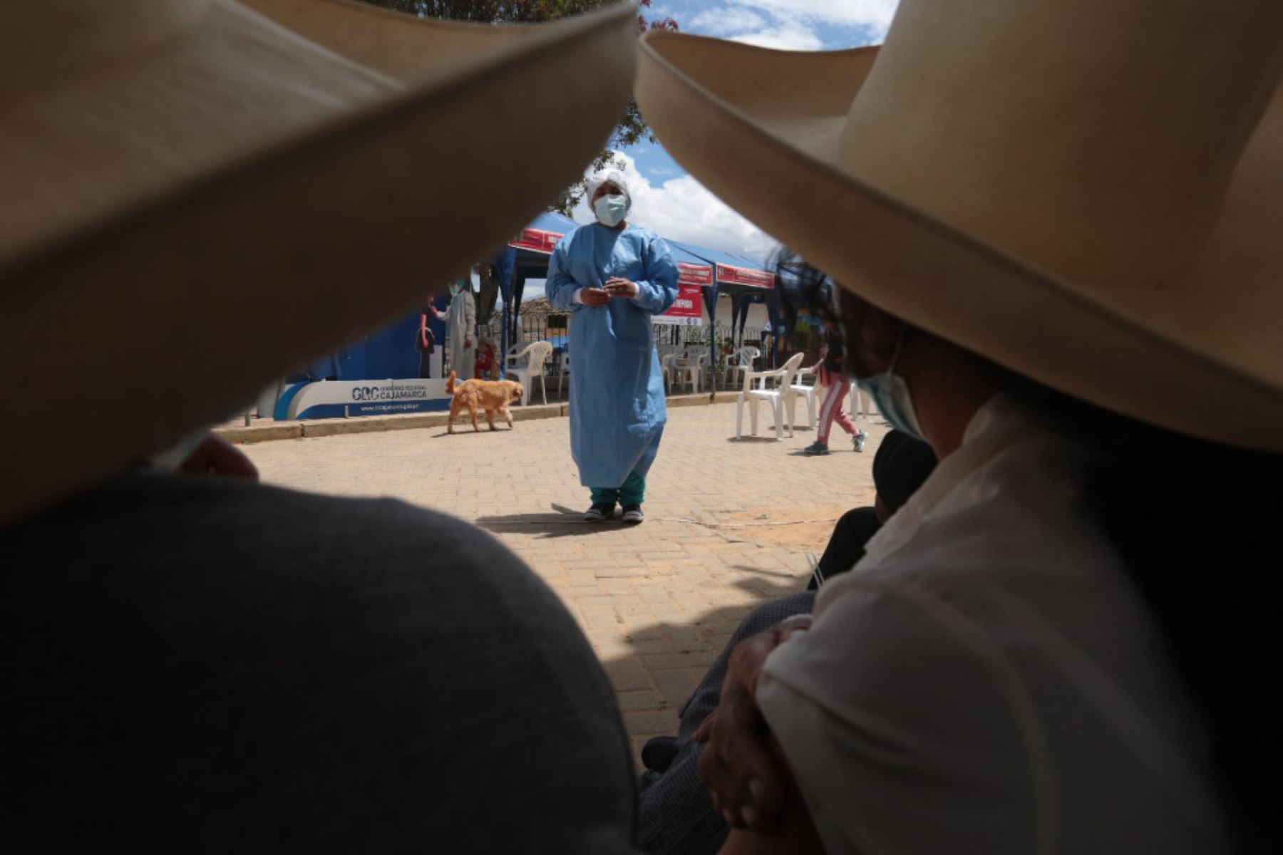 Pobladores de diversas provincias de Cajamarca reciben la vacuna contra la covid-19. Foto: Minsa